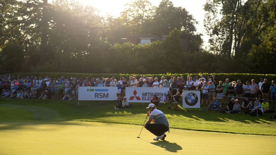 Jon Rahm in action at Wentworth