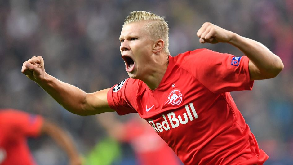 Erling Braut Haland: Salzburg forward scored a hat-trick on his Champions League debut