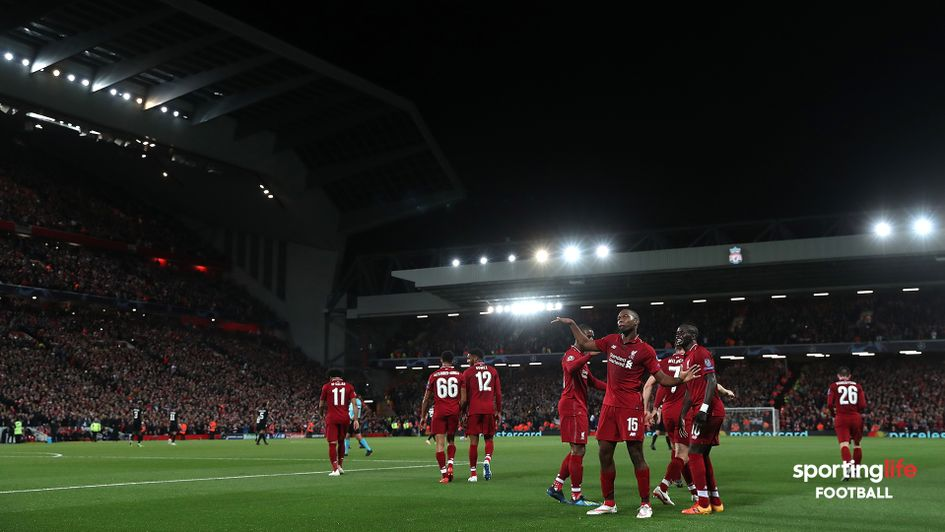 Daniel Sturridge celebrates scoring against PSG