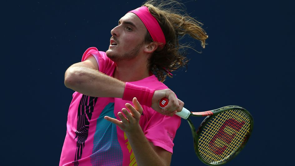 Stefanos Tsitsipas on his way to a stunning victory
