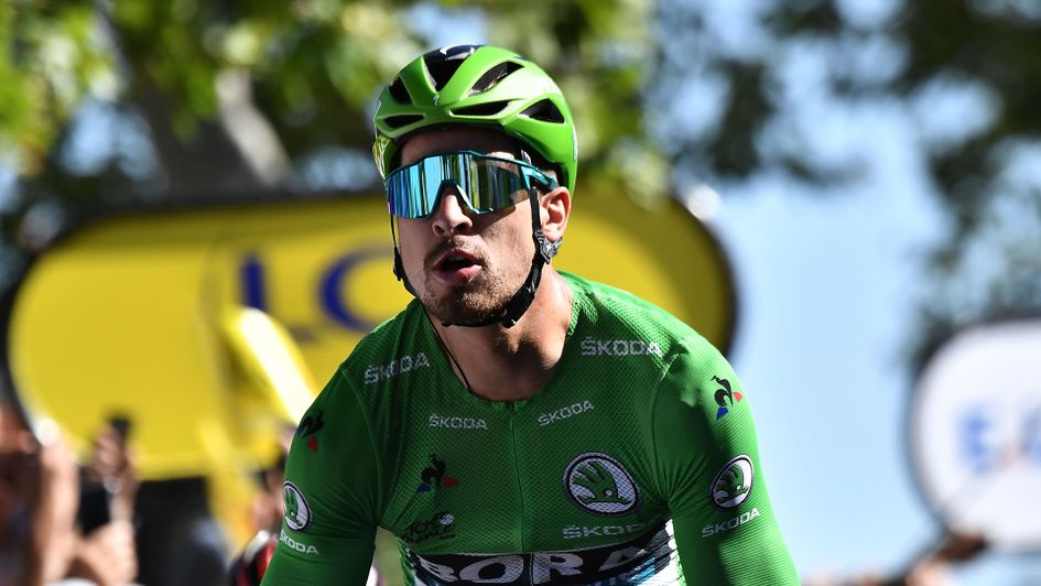 aa65634ffc6 Peter Sagan: The Slovakian crosses the line on stage five of the Tour de  France