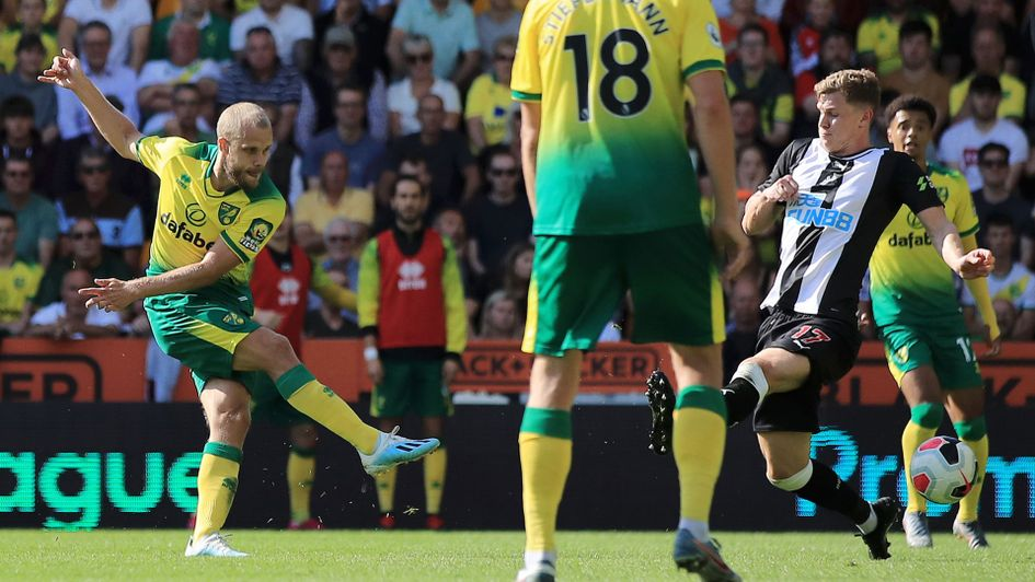 Teemu Pukki claimed his first Premier League hat-trick in just his second top flight match
