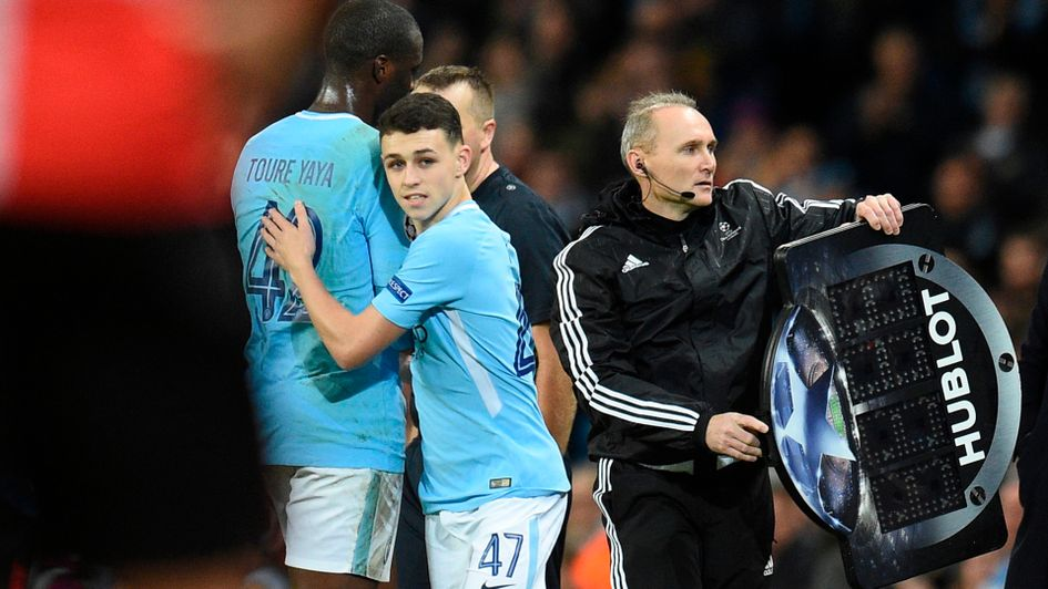 Phil Foden makes his Manchester City debut