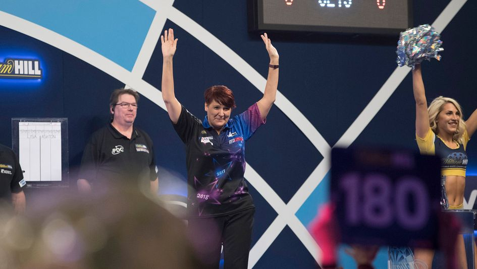 Lisa Ashton was beaten but did herself proud (Picture: Lawrence Lustig/PDC)