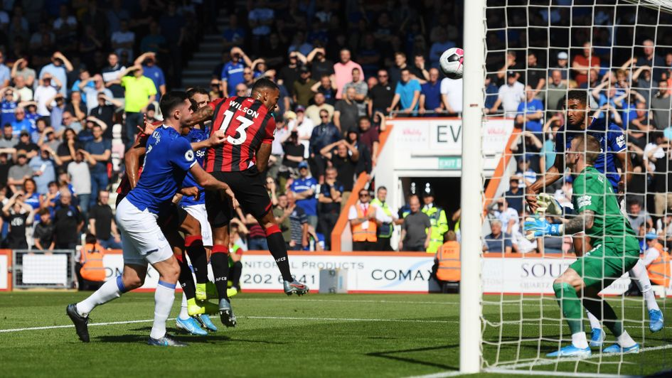 Callum Wilson: Forward scores for Bournemouth in their Premier League clash with Everton