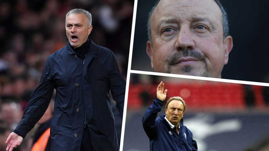 Premier League sack race: Jose Mourinho, Rafa Benitez and Neil Warnock (clockwise, from the left) are all contenders