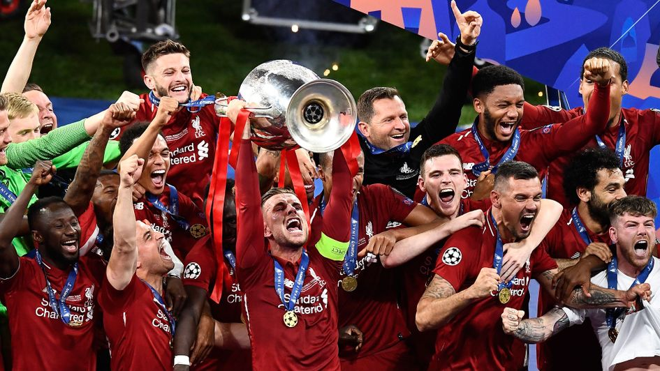Jordan Henderson lifts the European Cup for Liverpool