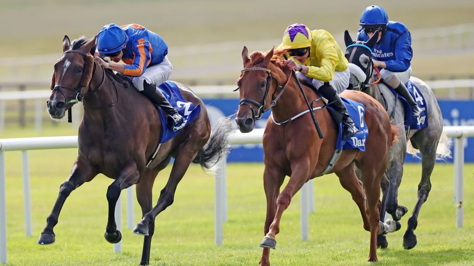 Sea Of Class reels in Forever Together to win the Irish Oaks