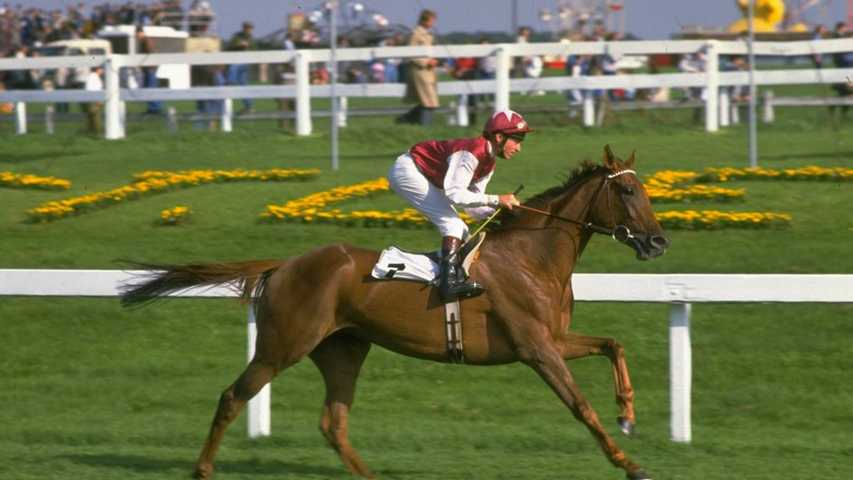 Oh So Sharp in action in the 1985 St Leger