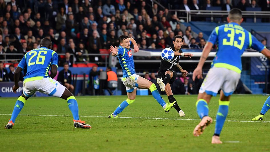 Angel Di Maria nets a late winner for PSG against Napoli
