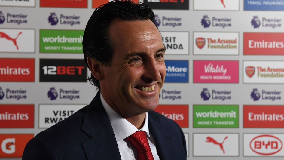 Unai Emery: The Spaniard was pleased to get his first Premier League win
