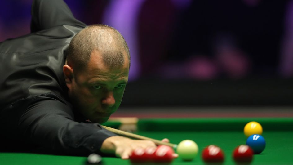 Barry Hawkins, pictured in action at the 2019 Dafabet Masters