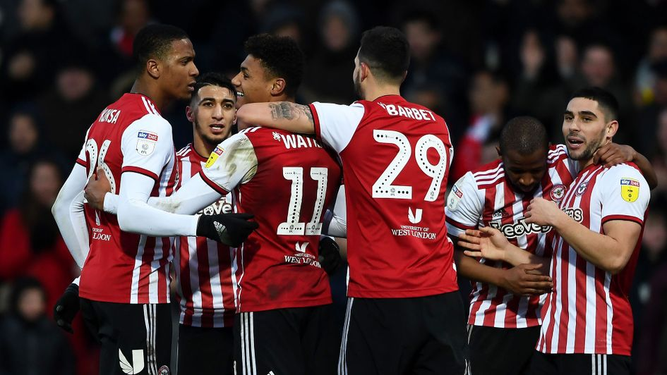 Brentford celebrate their comeback win over Blackburn