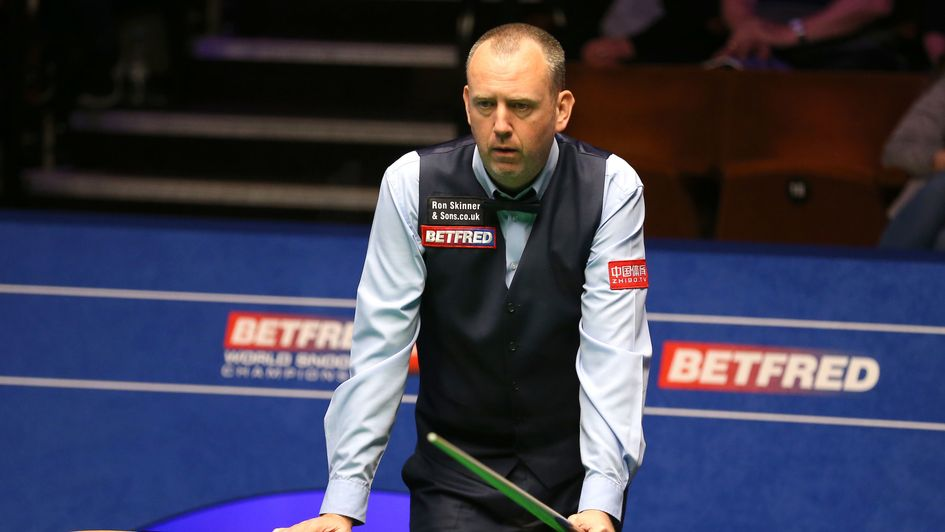 Mark Williams at the table on day one at the Crucible