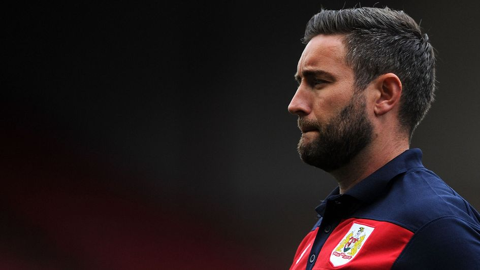 Lee Johnson: The Bristol City boss looks on