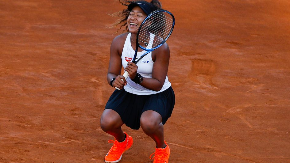 Delight for world number one Naomi Osaka at the Italian Open
