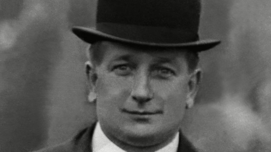 Herbert Chapman during his time at Leeds - he would work in munitions factory during the war