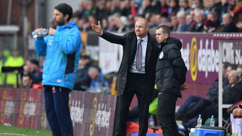 Danny Cowley (left) and Sean Dyche on the touchline during an FA Cup match in 2017