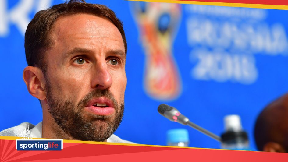 Gareth Southgate speaks to the media