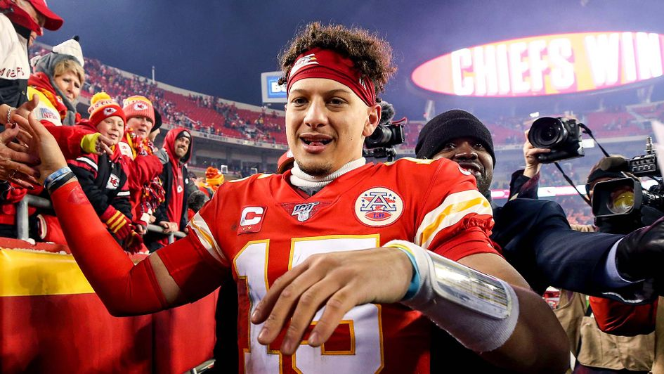 Patrick Mahomes after the Kansas City Chiefs beat the Houston Texans in the NFL play-offs