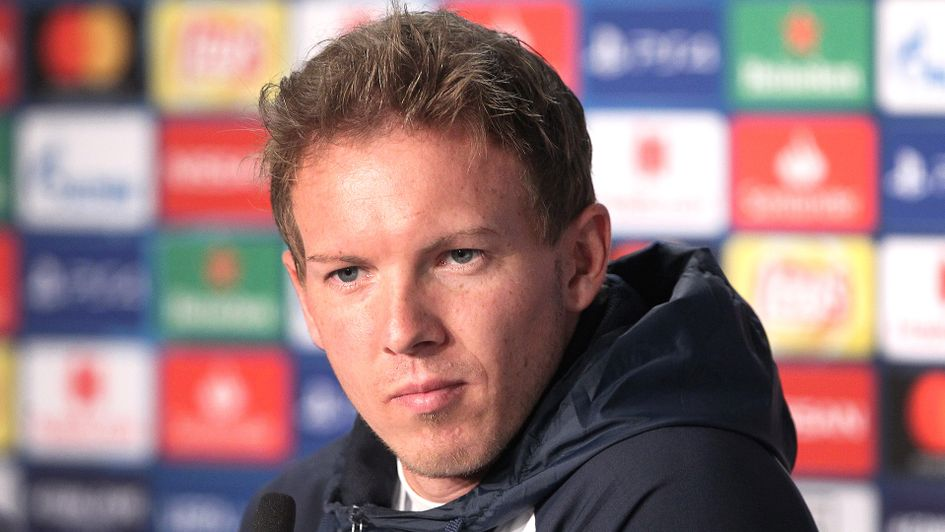Julian Nagelsmann speaks to the media