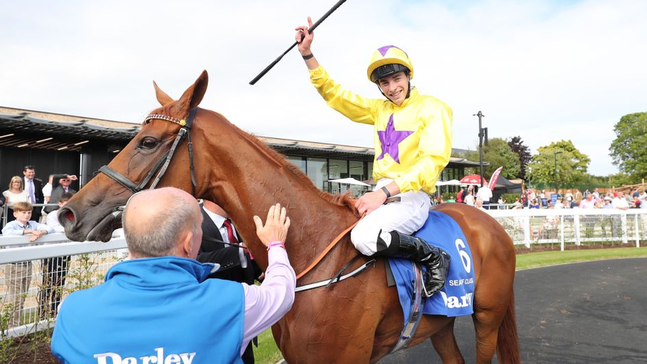 James Doyle celebrates on Sea Of Class