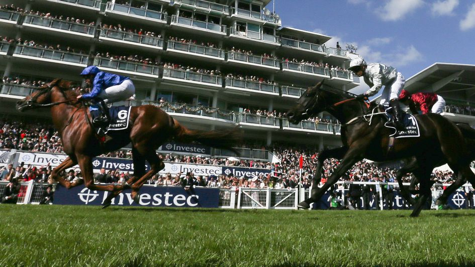 Dee Ex Bee chases home Masar at Epsom