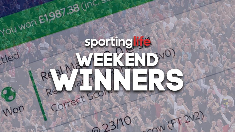 We celebrate the best bets that have come in over weekend