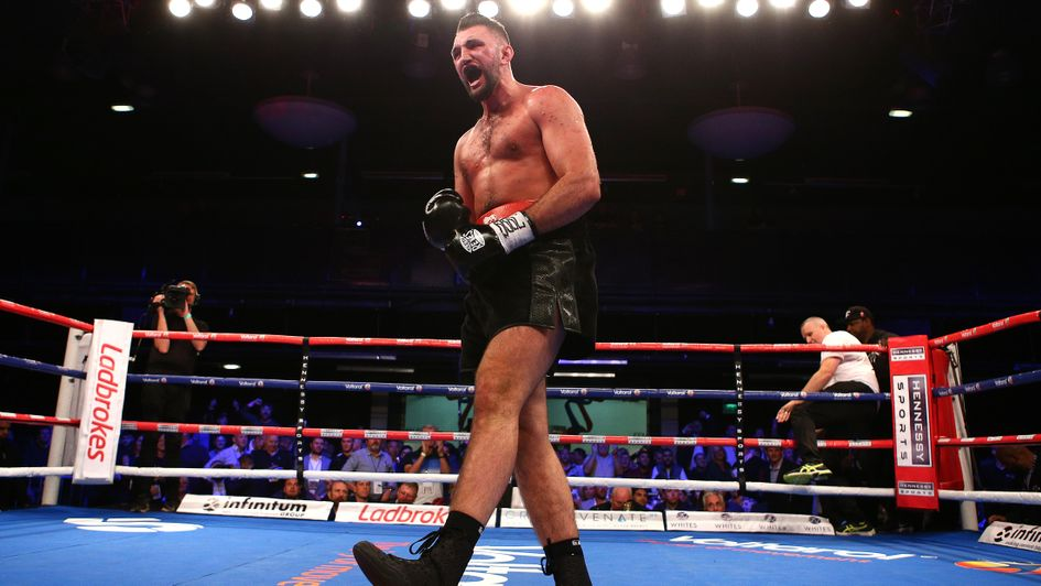 Celebration time for Hughie Fury