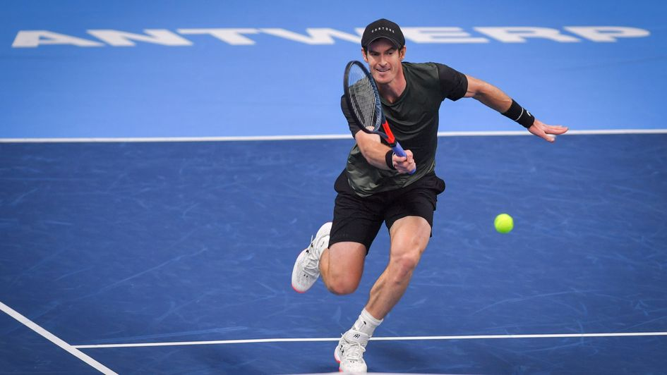 Andy Murray: Pictured in action at the European Open in Antwerp