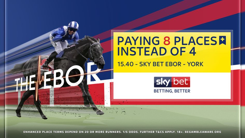 EIGHT places available in the Sky Bet Ebor