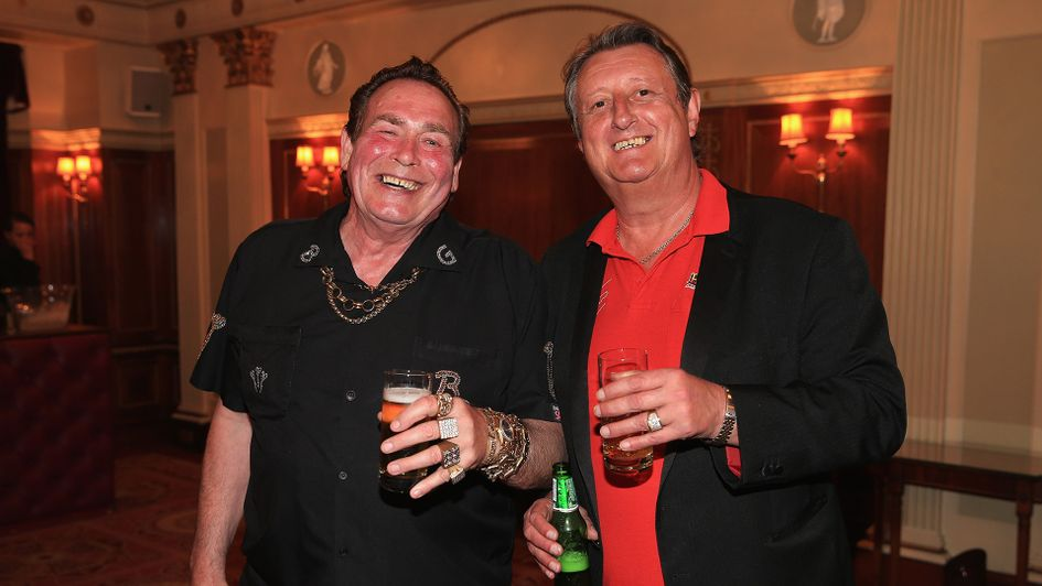 Eric Bristow with another darting legend Bobby George
