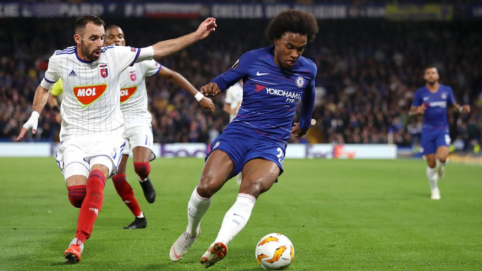 Willian starred for Chelsea against MOL Vidi