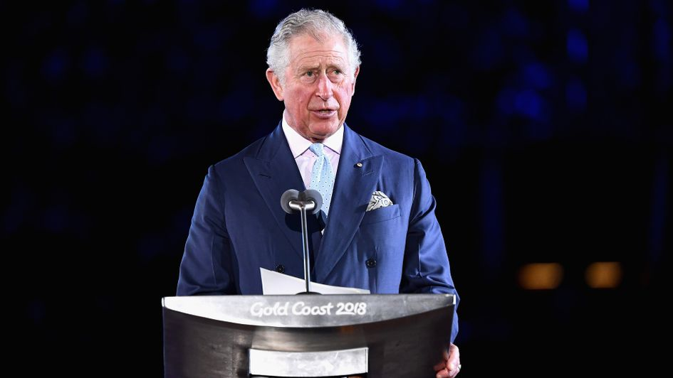 The Prince of Wales at the opening ceremony for the 2018 Gold Coast Commonwealth Games