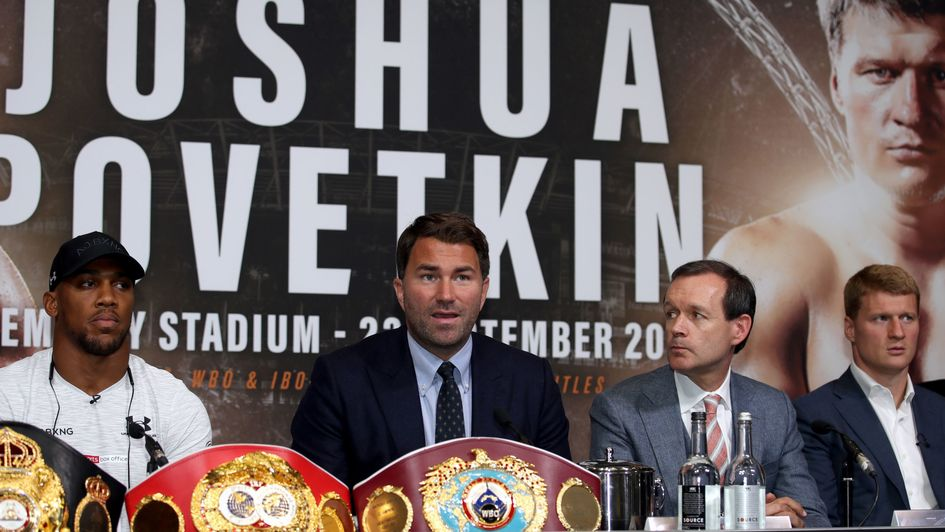Joshua and Povetkin face the press