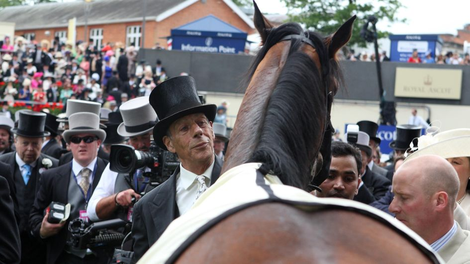 Sir Henry Cecil with Frankel at Royal Ascot