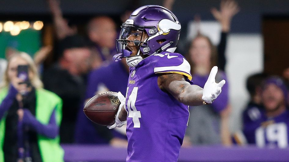 Stefon Diggs of the Minnesota Vikings celebrates