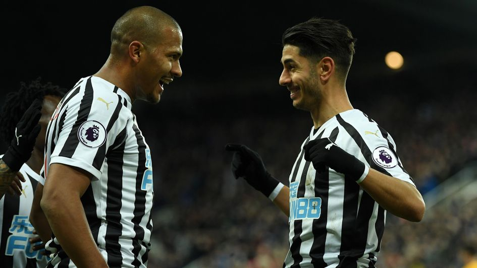 Salomon Rondon and Ayoze Perez celebrate