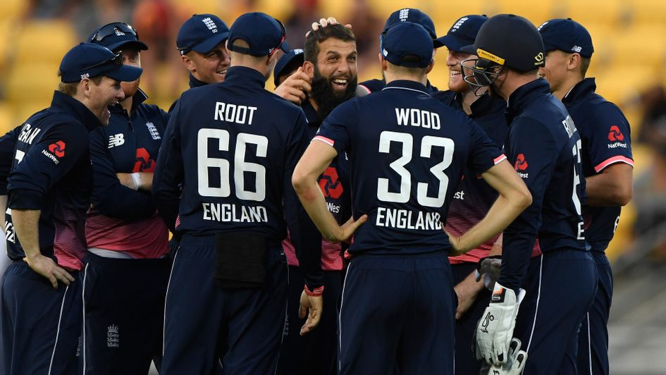 England celebrate a crucial wicket