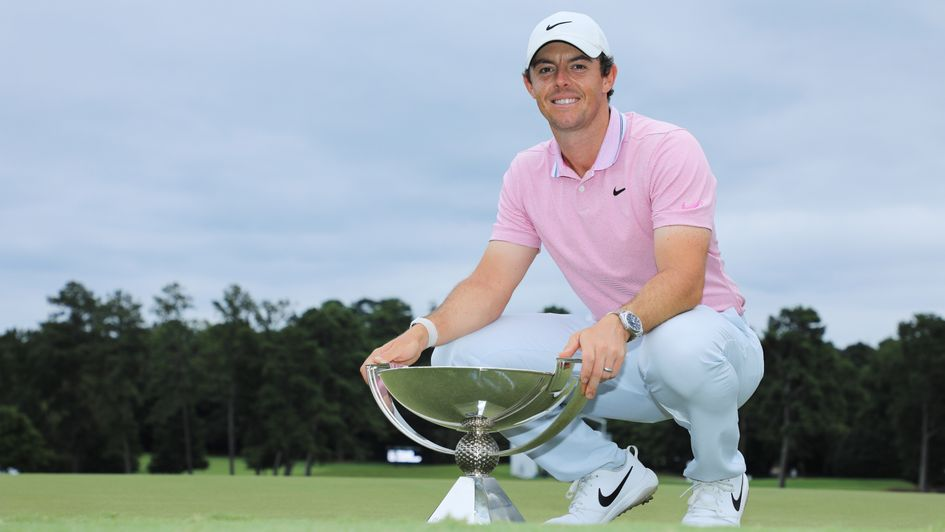 Rory McIlroy, pictured with the FedEx Cup trophy in Atlanta, Georgia