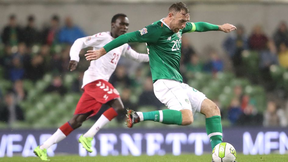 Richard Keogh in action for the Republic of Ireland