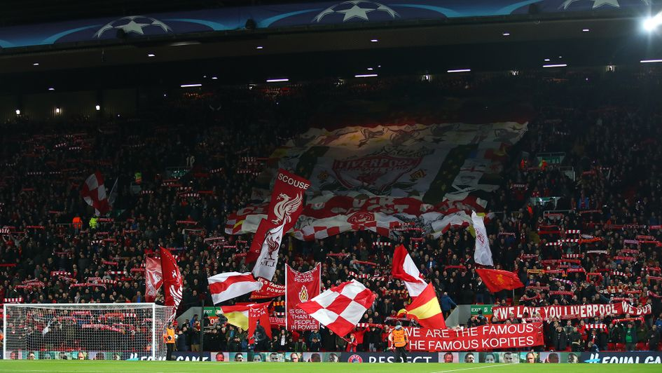 Liverpool's famous Kop, pictured during their Champions League clash with Spartak Moscow