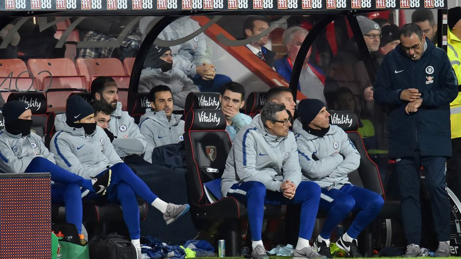 Maurizio Sarri: A frustrating evening at Bournemouth for the Italian's Chelsea side