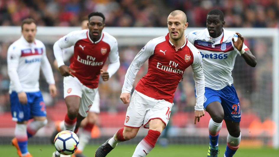 Jack Wilshere in action for Arsenal