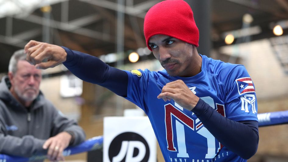 Emmanuel Rodriguez sparring in London