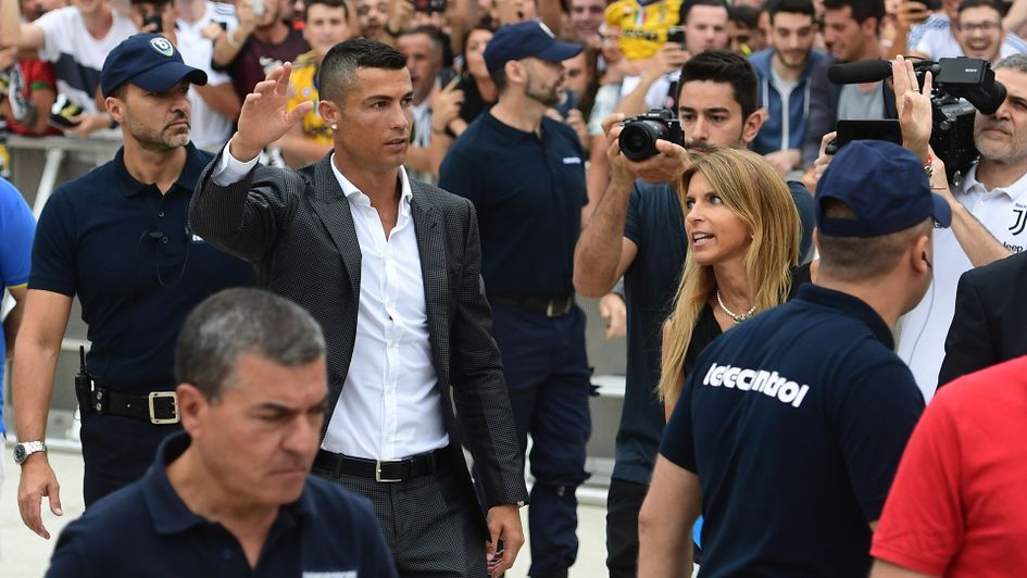 Image result for pic of ronaldo unveiled by juventus