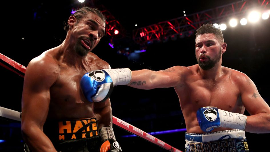 Tony Bellew lands a vicious right on David Haye