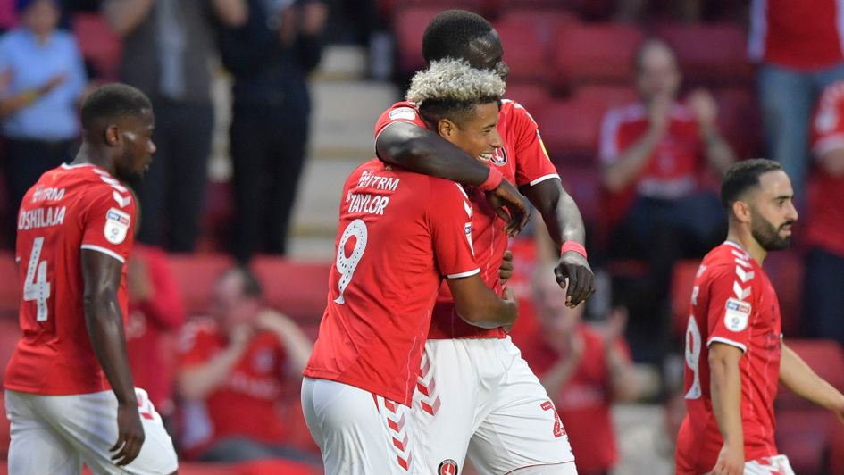 Celebrations for Lyle Taylor and Charlton