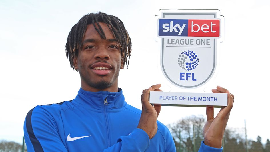 Ivan Toney won the Sky Bet League One Player of the Month award