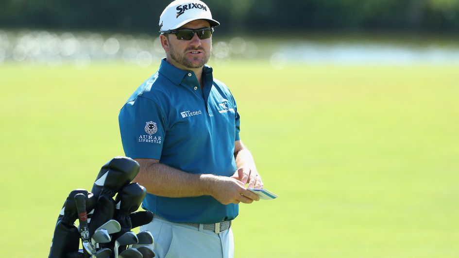 Graeme McDowell: Pictured with his clubs at the recent Open de France